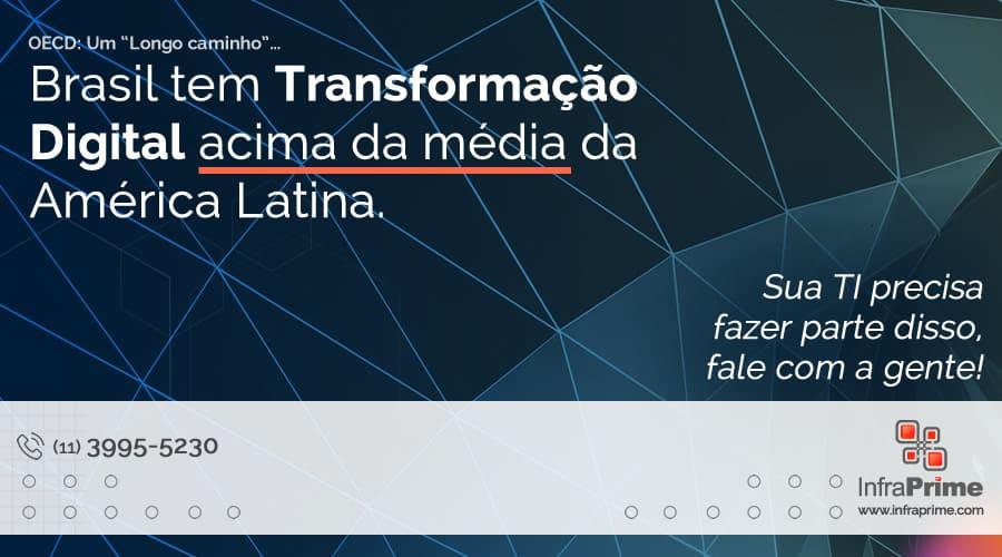 Infraprime comenta relatório da OCDE que põe Brasil como primeiro colocado da América Latina em Transformação Digital. Imagem: Adrien Olichon no Pexels.