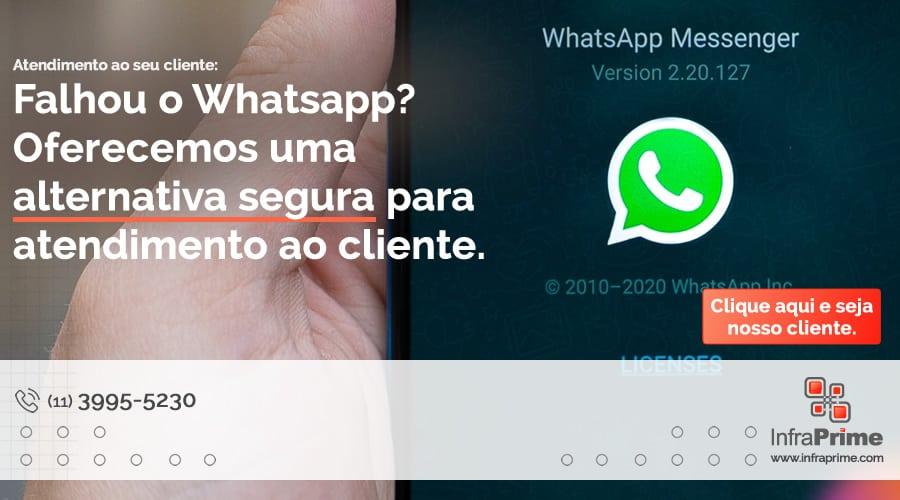 Infraprime oferece formas de contornar falhas do Whatsapp através de soluções usando infraestrutura de TI e Terceirização de TI. Imagem: Mika Baumeister on Unsplash.